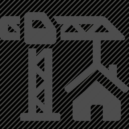 construction, crane, home, house, real estate icon