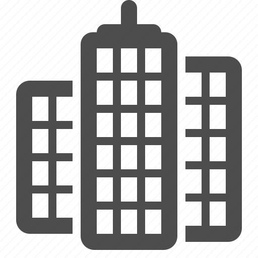 buildings, office building, skyscraper, tower icon