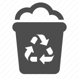 ecology, garbage, recycle, recycle bin, trash can icon
