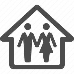 couple, family, home, house, man, real estate, woman icon