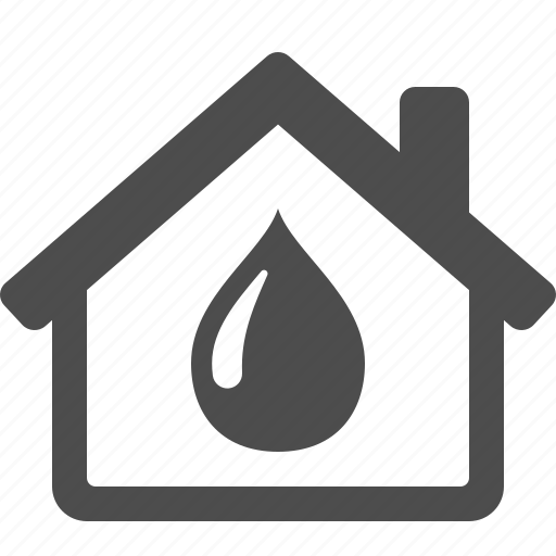 drop, home, house, real estate, water icon