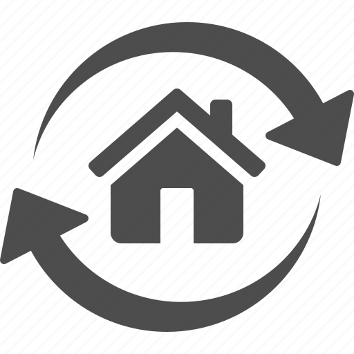 arrows, home, house, real estate icon