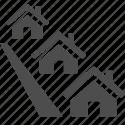 house, neighborhood, neighbourhood, real estate, street icon