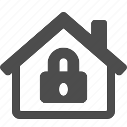 home, house, lock, locked, real estate, security icon