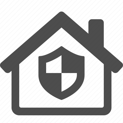home, house, insurance, real estate, security, shield icon