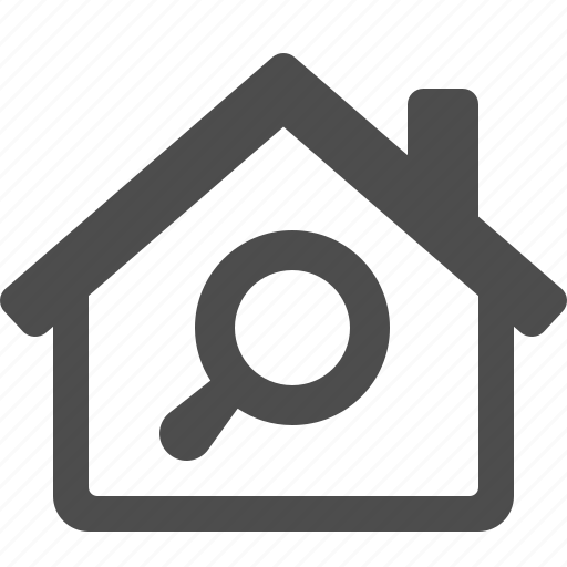 Find, home, house, magnifier, magnifying glass, real estate, search icon - Download on Iconfinder