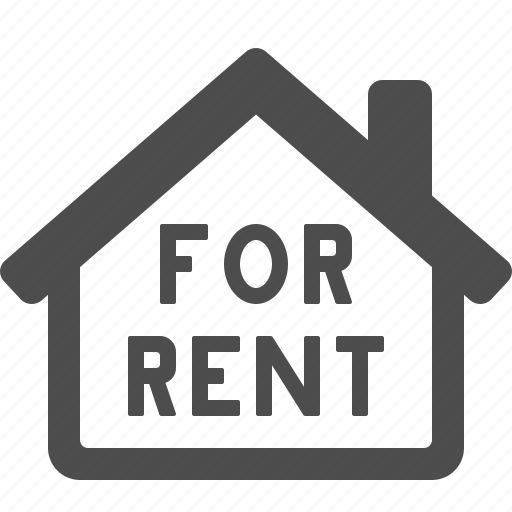 for rent, home, house, real estate, rent icon