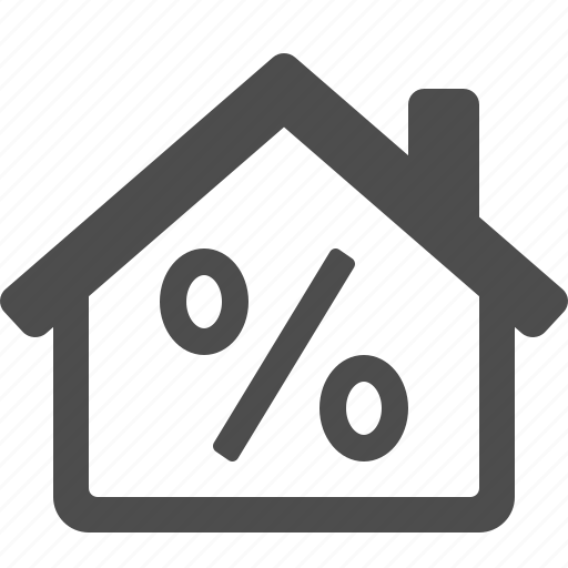 discount, home, house, percentage sign, price, real estate icon