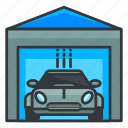 car, estate, garage, real, transportation icon
