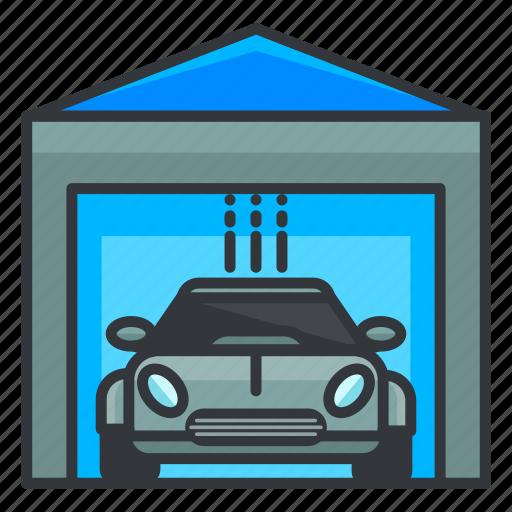 car, estate, garage, real, transportation icon