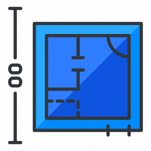 blueprints, estate, map, plan, real icon