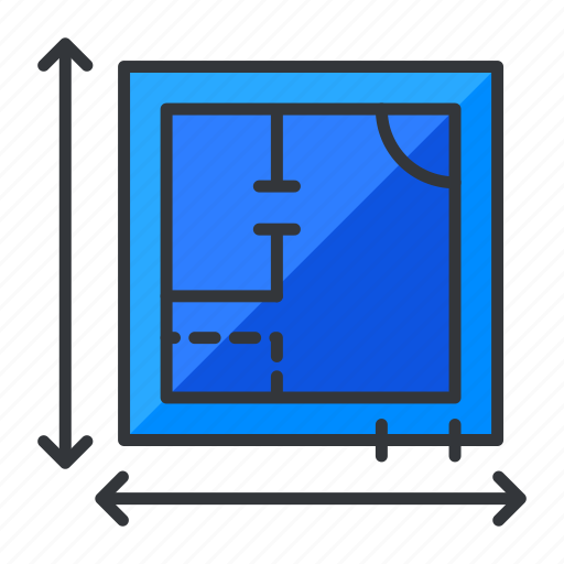 blueprints, estate, plan, real icon