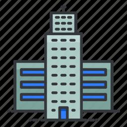 building, estate, property, real, skyscraper icon