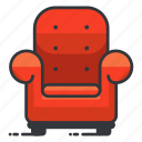 chair, estate, furniture, livingroom, real icon