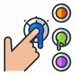 click, colour, estate, real, select, selection icon