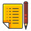 document, estate, pencil, real, write icon