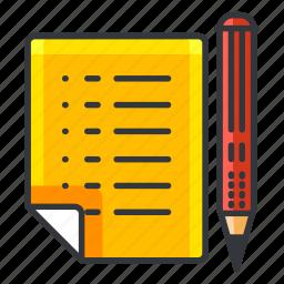 document, estate, pencil, real, write icon