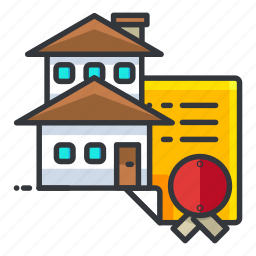 document, documentation, estate, house, paper, real icon