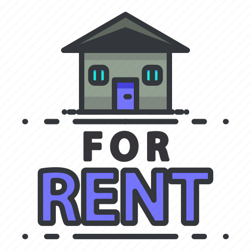 Rental Home Locator: Estate, For, Real, Rent Icon