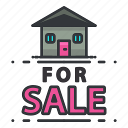 estate, for, house, real, sale icon