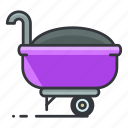 estate, full, maintenance, real, tool, wheelbarrow icon