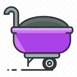 estate, full, maintenance, real, tool, wheelbarrow icon