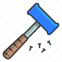 estate, hammer, maintenance, real, tool icon