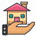 estate, hand, house, property, real