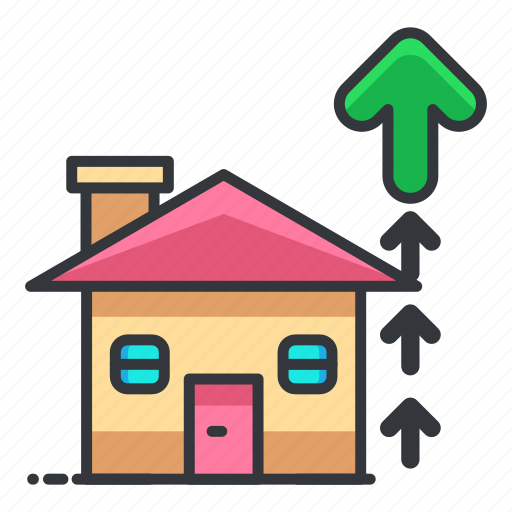 estate, house, property, real, up icon