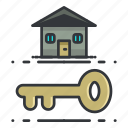 estate, key, lock, real, security icon