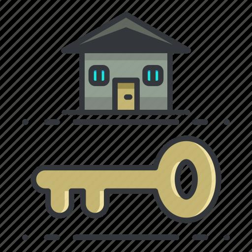 estate, key, lock, real, security icon