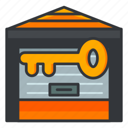 estate, key, locker, real, storage icon