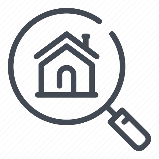 estate, find, home, house, real, research, search icon