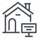 estate, home, house, offer, real, sign icon