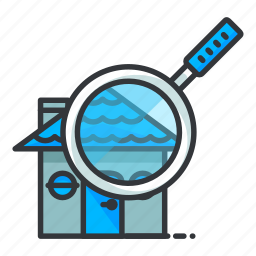 estate, find, magnifier, real, search icon