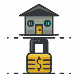 estate, home, house, lock, real, security icon