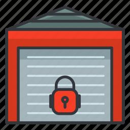 estate, lock, locker, real, storage icon