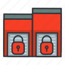 estate, lock, lockers, real, storage icon