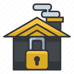 estate, home, house, locked, real, security icon