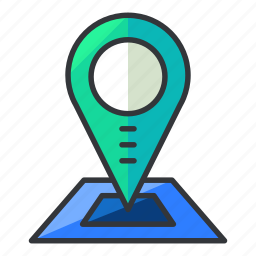 estate, location, map, pointer, real icon