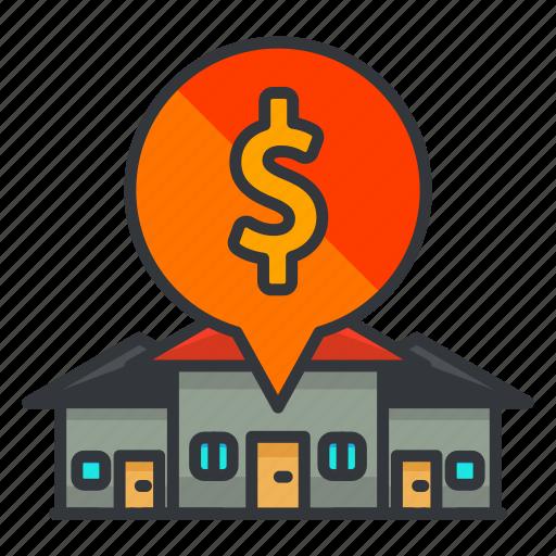 estate, houses, money, real icon