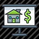 dollar, estate, finance, money, presentation, real