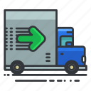 estate, moving, real, transportation, truck icon