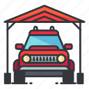 estate, garage, outdoor, real