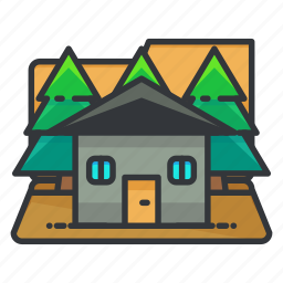 estate, house, outdoor, real icon