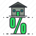 estate, home, house, percentage, real, sale