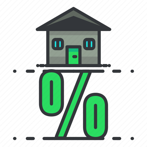 estate, home, house, percentage, real, sale icon