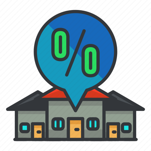 estate, house, houses, percentage, real icon