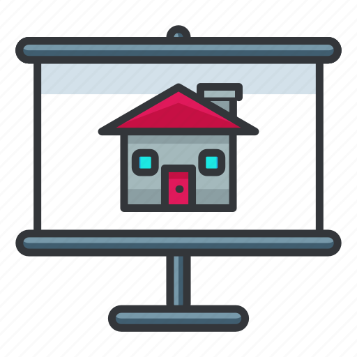estate, home, house, presentation, real icon