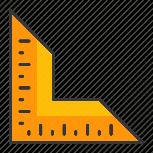 estate, maintenance, real, ruler, tool icon